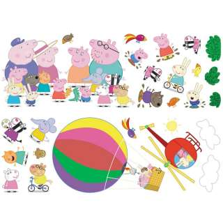 Peppa Pig George Stikarounds 32 Wall Stickers FREE P+P