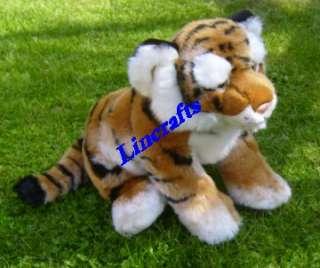 Sitting Tiger Cub Plush Soft Toy by Teddy Hermann
