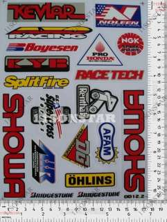 suzuki moto cross kit enduro casque Autocollant sticker