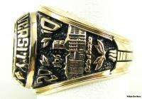 FURMAN UNIVERSITY College Class RING  10k Yellow Gold Solid Back 25.1g