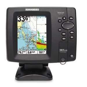 Humminbird 587ci Combo FishFinder Dual Beam Sonar: GPS