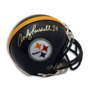 Autographed Andy Russell Mini Helmet   Autographed NFL