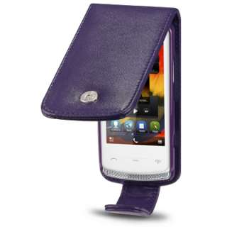 PREMIUM PU LEATHER FLIP CASE FOR NOKIA 700   PURPLE