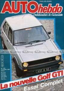 AUTO HEBDO N°339 GOLF GTi 1800, RENE ARNOUX 1982