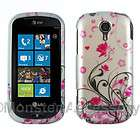 Pink Flowers Hard Case Cover For LG Quantum C900 Accessory