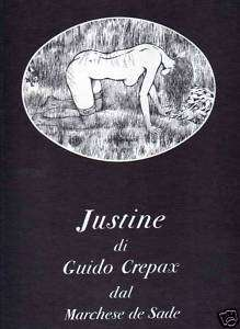 GUIDO CREPAX JUSTINE DAL MARCHESE DE SADE OLYMPIA PRESS