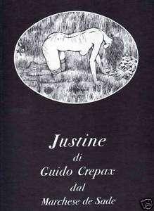 GUIDO CREPAX JUSTINE DAL MARCHESE DE SADE OLYMPIA PRESS