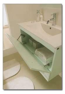 Mobile bagno moderno Bianco Lucido 80 Lavabo cristallo