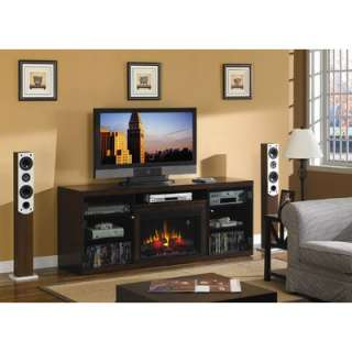 Lipan 48 TV Stand with Electric Fireplace in Glazed Pine   DTO3140F