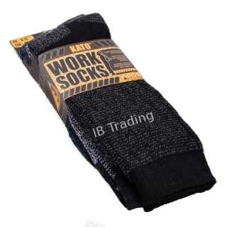 Pack Mens KATO Work Socks   Cotton Rich Hard Wearing 6 11