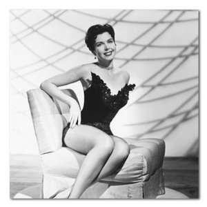Ann Miller B&W Matte Photograph   12x12 Inches (Legs Crossed):