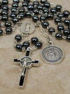 USMC Rosary St Saint Christopher Medal Benedict Cross Marines Catholic