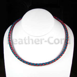 LEATHER CORD BOLO NECKLACE 5.0mm CUSTOM COLOR & SIZE