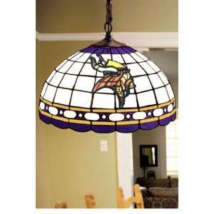 Team Logo Hanging Lamp 16hx16l Mnsota Vikings Home