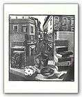 SURREALIST ART PRINT Still Life and Street M.C. Escher