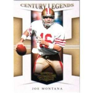 Joe Montana San Francisco 49ers 2008 Donruss Threads Century Legends