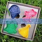 Ice Cream Cute Biscuit Cookie DIY Cutter Moulds Mold Stamp Set (4