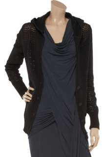 by Alexander Wang Open knit hooded cotton top   60% Off Now at THE