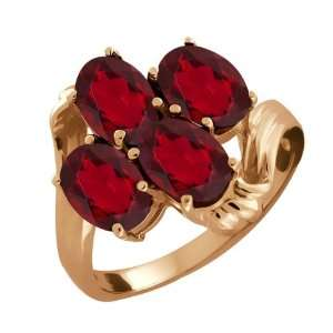 3.80 Ct Oval Ruby Red Mystic Topaz 14k Rose Gold Ring Jewelry