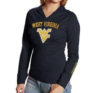 West Virginia Mountaineers Ladies Navy Blue Twilight Long Sleeve Hoody