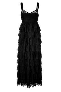 Black Tiered Maxi Dress by D&G DOLCE & GABBANA  the