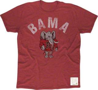 Alabama Crimson Tide Deep Red Retro Brand Vintage Bama Slub Knit T