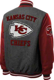 Kansas City Chiefs Grey Wool Varsity Jacket
