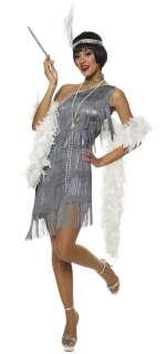 Gun Metal Grey Dazzling Flapper Costume   Flapper Costumes