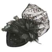 Black Velvet Fashion Hat   Costume Accessories   Hats
