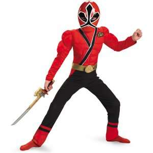 Power Rangers Samurai   Red Ranger Muscle Child Costume, 800423