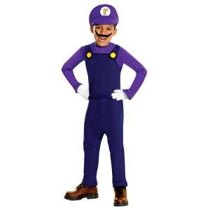 Super Mario Bros.   Waluigi Toddler / Kids Costume, 801406