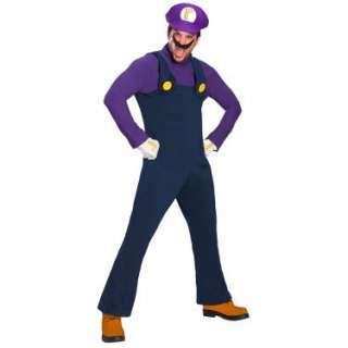 Halloween Costumes Super Mario Bros.   Waluigi Deluxe Adult Costume