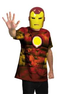 Marvel Universe Iron Man Shirt Child/Adult Costume for Halloween
