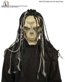 costumes in shopping cart dead dread mask w hair