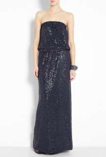 Tibi  Navy Beaded Jersey Maxi Dress by Tibi