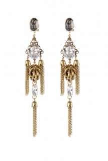Anton Heunis  Crystal Drop Chain Earrings by Anton Heunis