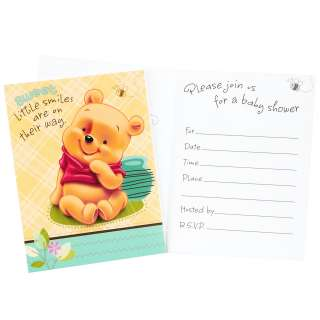 Baby Pooh and Friends Baby Shower Invitations (8 count)     1636995