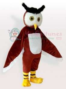 Brown Owl Adult Mascot Costume Brown Owl Adult Mascot Costume for