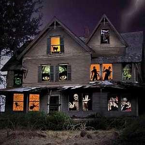 Improvements Halloween Window Poster—Single Window