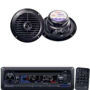 com Pyle Marine Radio Receiver and Speaker Package   PLCD34MRW AM/FM