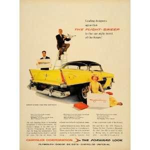 1956 Ad Flight Sweep Plymouth Belvedere Sport Sedan Car