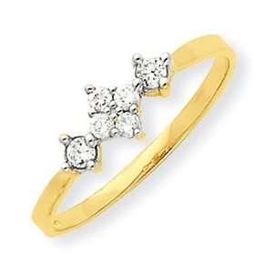 Genuine IceCarats Designer Jewelry Gift 10K Cz Ring Size 6.00 Jewelry