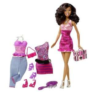com Barbie Fashions And African American Doll Gift Set Toys & Games