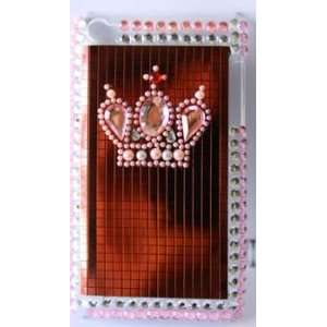Bling Crystal Pink Crown Hard Case Cell Phones & Accessories