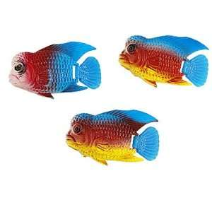 Como Aquarium Blue Yellow Fins Plastic Sea Fish Decoration
