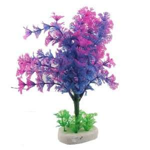 Como Fish Tank Aquarium Decorative Purple Blue Green Plant