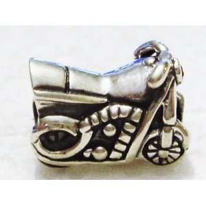 Authentic 925 sterling silver motorcycle charm fits pandora