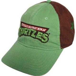 Teenage Mutant Ninja Turtles Green & Brown Logo Baseball Cap: Clothing