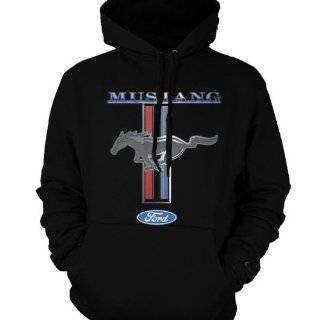 Ford Mustang Running Pony Black Baseball Hat Automotive