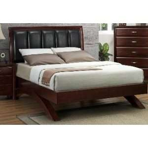Mahogany Finish Queen Size Bed Frame w/ Arch Base